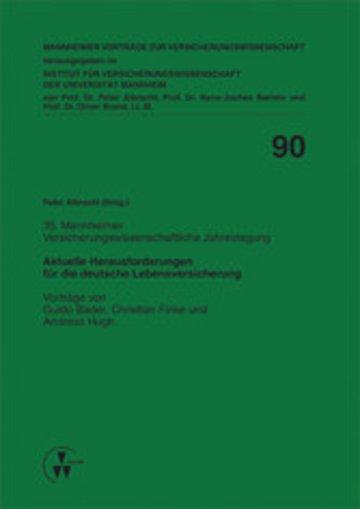 eBook Aktuelle Herausforderungen für die deutsche Lebensversicherung Cover