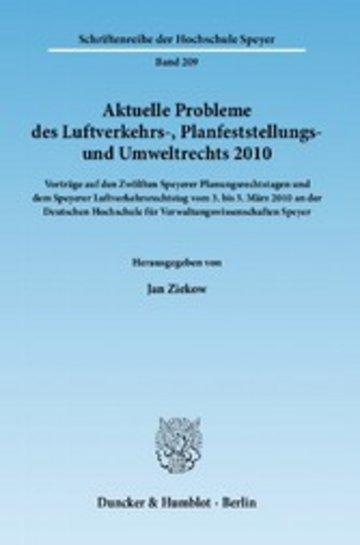 eBook Aktuelle Probleme des Luftverkehrs-, Planfeststellungs- und Umweltrechts 2010. Cover