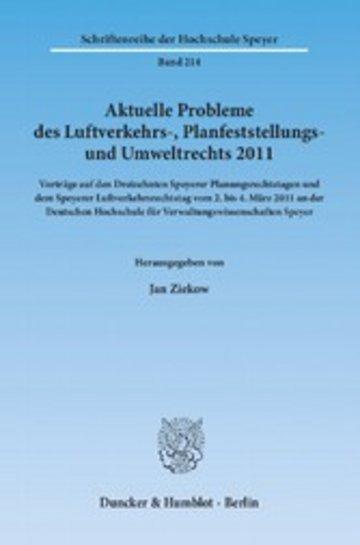 eBook Aktuelle Probleme des Luftverkehrs-, Planfeststellungs- und Umweltrechts 2011. Cover