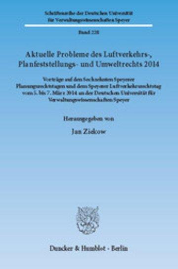 eBook Aktuelle Probleme des Luftverkehrs-, Planfeststellungs- und Umweltrechts 2014. Cover