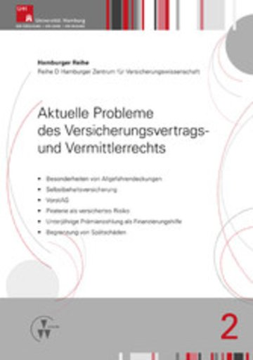eBook Aktuelle Probleme des Versicherungsvertrags- und Vermittlerrechts Cover