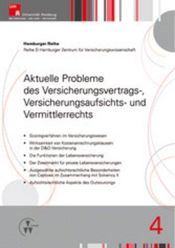 eBook Aktuelle Probleme des Versicherungsvertrags-, Versicherungsaufsichts- und Vermittlerrechts Cover