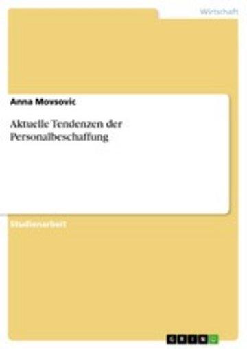 eBook Aktuelle Tendenzen der Personalbeschaffung Cover
