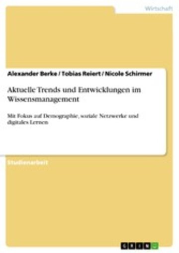 eBook Aktuelle Trends und Entwicklungen im Wissensmanagement Cover