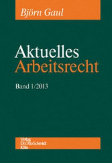 eBook Aktuelles Arbeitsrecht, Band 1/2013 Cover