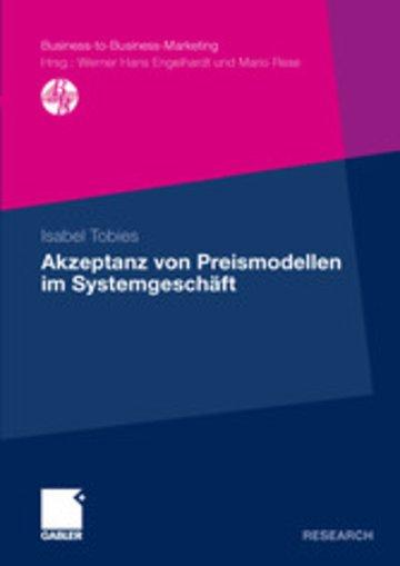 eBook Akzeptanz von Preismodellen im Systemgeschäft Cover