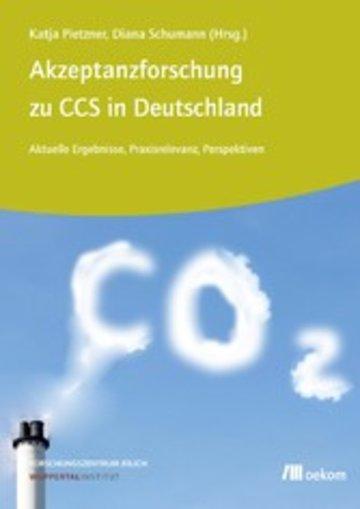eBook Akzeptanzforschung zu CCS in Deutschland. Cover