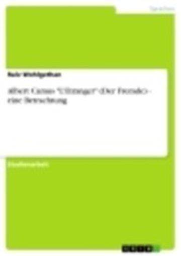 eBook Albert Camus 'L'Etranger' (Der Fremde) - eine Betrachtung Cover