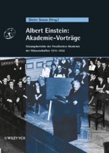 eBook Albert Einstein: Akademie-Vorträge Cover