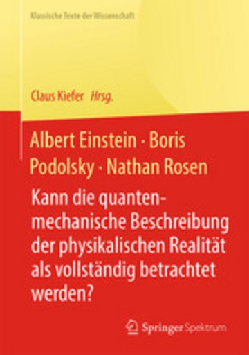 eBook Albert Einstein, Boris Podolsky, Nathan Rosen Cover