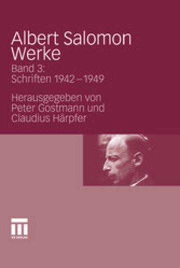 eBook Albert Salomon Werke Cover