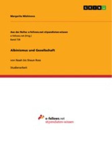 eBook Albinismus und Gesellschaft Cover