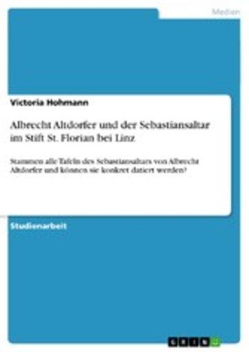 eBook Albrecht Altdorfer und der Sebastiansaltar im Stift St. Florian bei Linz Cover
