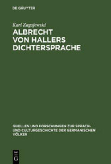 eBook Albrecht von Hallers Dichtersprache Cover