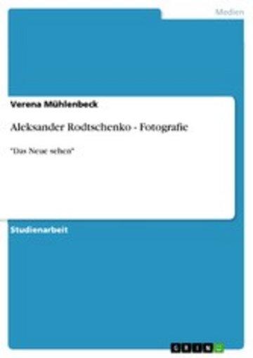 eBook Aleksander Rodtschenko - Fotografie Cover