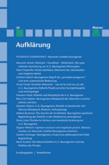 eBook Alexander Gottlieb Baumgarten Cover