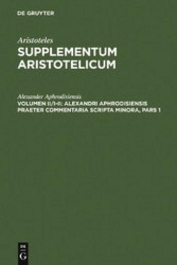 eBook Alexandri Aphrodisiensis praeter commentaria scripta minora Cover
