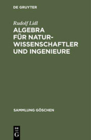 eBook Algebra für Naturwissenschaftler und Ingenieure Cover