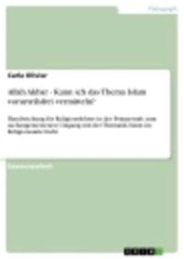 eBook Allah Akbar - Kann ich das Thema Islam vorurteilsfrei vermitteln? Cover