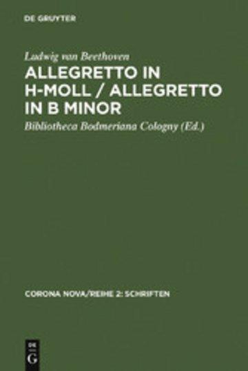 eBook Allegretto in h-Moll / Allegretto in B minor / Ludwig van Beethoven. Allegretto in B minor Cover