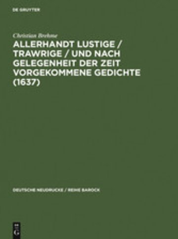 eBook Allerhandt Lustige / Trawrige / vnd nach gelegenheit der Zeit vorgekommene Gedichte (1637) Cover