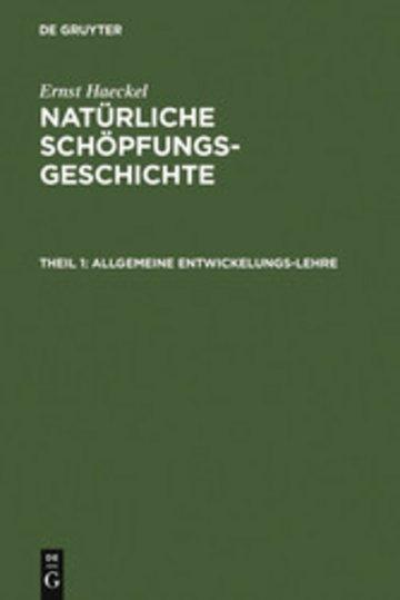 eBook Allgemeine Entwickelungs-Lehre Cover