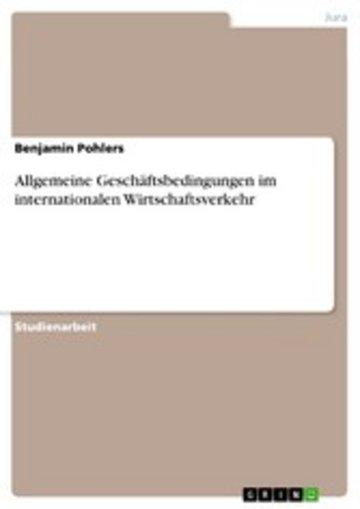 eBook Allgemeine Geschäftsbedingungen im internationalen Wirtschaftsverkehr Cover