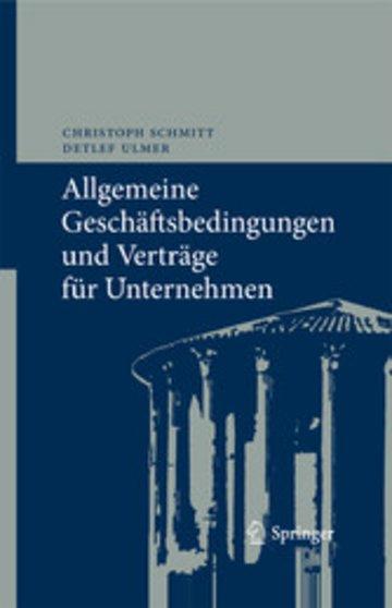 eBook Allgemeine Geschäftsbedingungen und Verträge für Unternehmen Cover