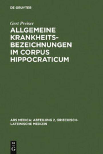 eBook Allgemeine Krankheitsbezeichnungen im Corpus Hippocraticum Cover