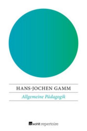eBook Allgemeine Pädagogik Cover
