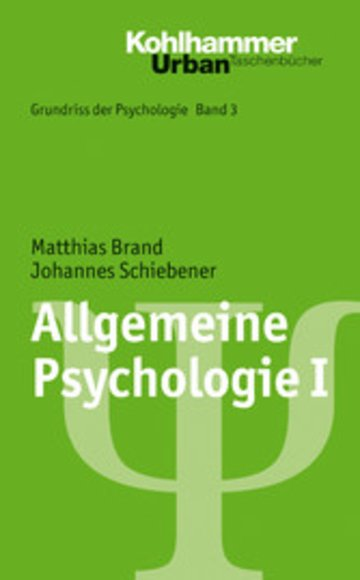 eBook Allgemeine Psychologie I Cover