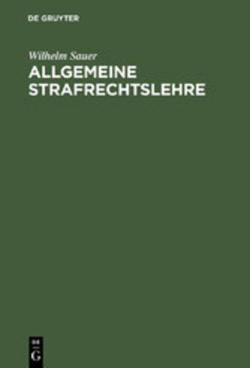 eBook Allgemeine Strafrechtslehre Cover