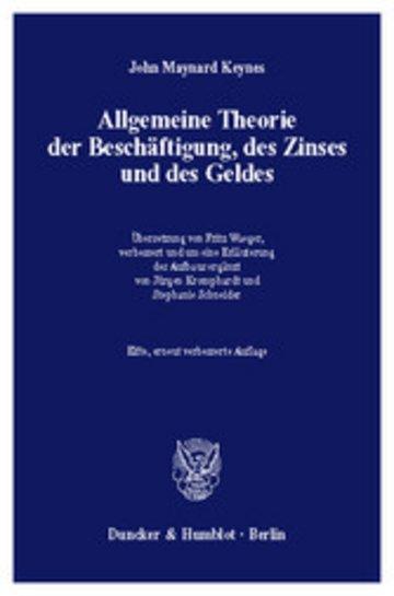 eBook Allgemeine Theorie der Beschäftigung, des Zinses und des Geldes. Cover