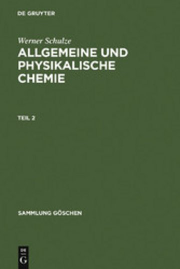 eBook Allgemeine und physikalische Chemie. Teil 2 Cover