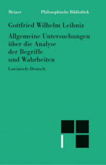 eBook Allgemeine Untersuchungen über die Analyse der Begriffe und Wahrheiten Cover