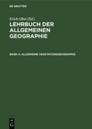 eBook Allgemeine Vegetationsgeographie Cover