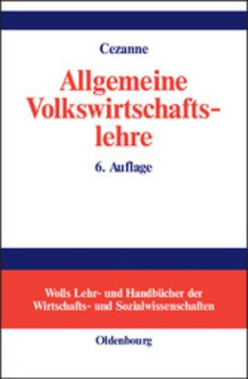 eBook Allgemeine Volkswirtschaftslehre Cover