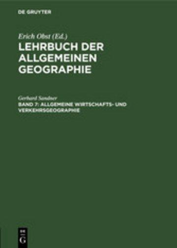 eBook Allgemeine Wirtschafts- und Verkehrsgeographie Cover