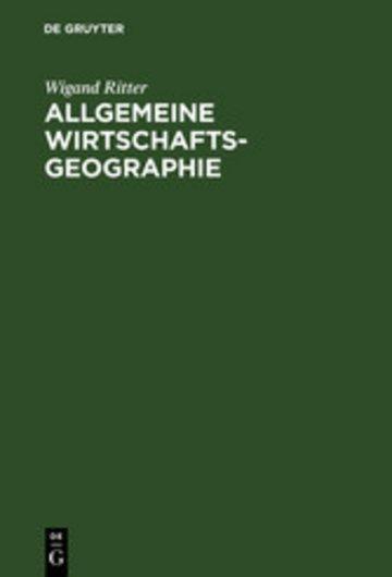 eBook Allgemeine Wirtschaftsgeographie Cover