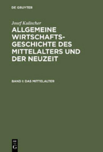 eBook Allgemeine Wirtschaftsgeschichte des Mittelalters und der Neuzeit Cover