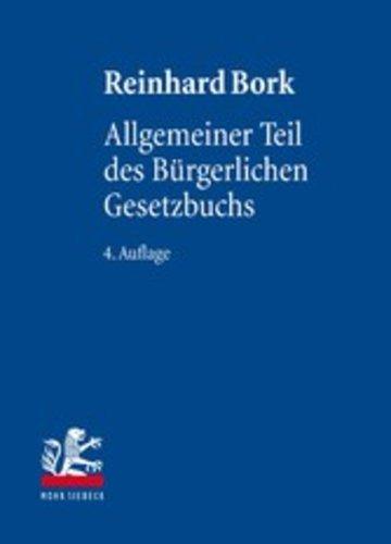 eBook Allgemeiner Teil des Bürgerlichen Gesetzbuchs Cover