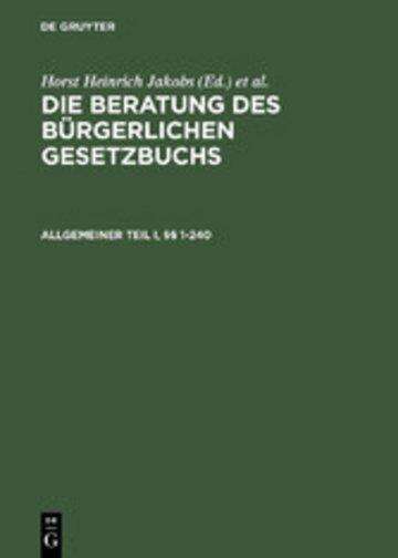 eBook Allgemeiner Teil I und II, §§ 1-240 Cover