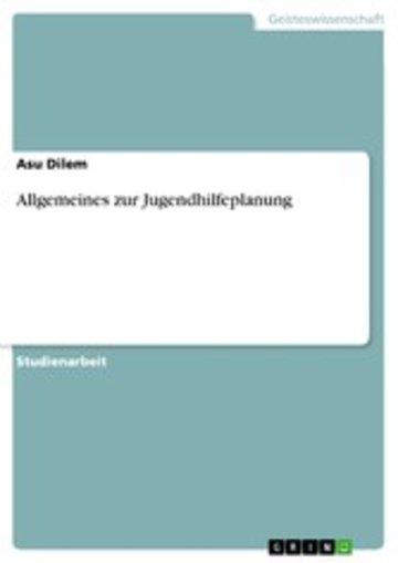 eBook Allgemeines zur Jugendhilfeplanung Cover