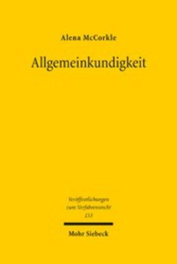 eBook Allgemeinkundigkeit Cover
