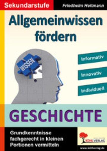 eBook Allgemeinwissen fördern GESCHICHTE Cover