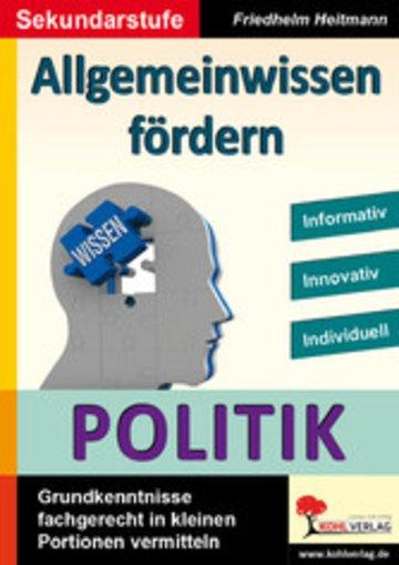 eBook Allgemeinwissen fördern POLITIK Cover