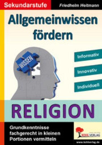 eBook Allgemeinwissen fördern RELIGION Cover