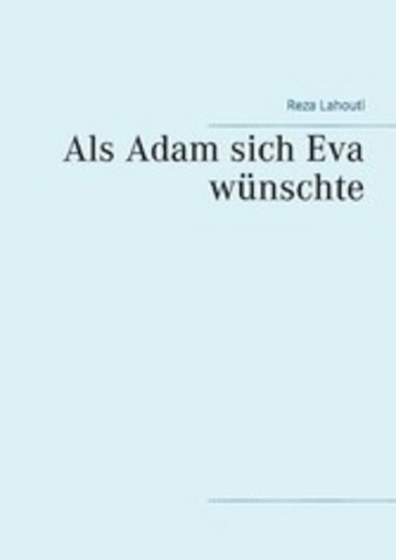 eBook Als Adam sich Eva wünschte Cover