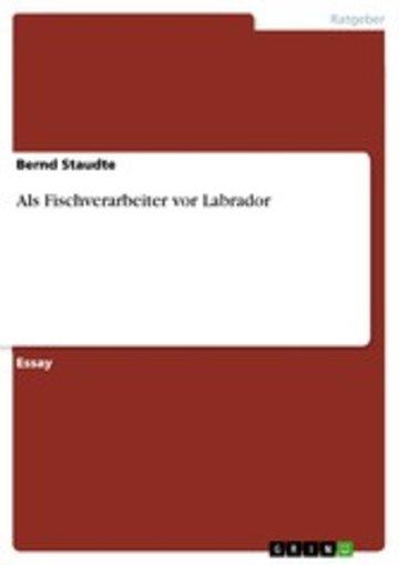 eBook Als Fischverarbeiter vor Labrador Cover