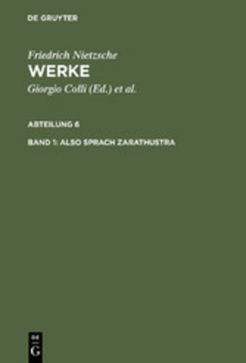 eBook Also sprach Zarathustra Cover
